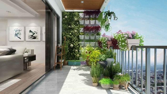 Thiết kế ban công chung cư đẹp cần đảm bảo về phong thủy, không cần quá cầu kì, phức tạp